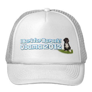 I Bark for Barack, Bo the First Dog Obama Trucker Hat
