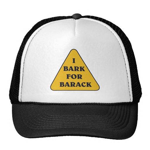 I-BARK-FOR-BARACK GORRAS