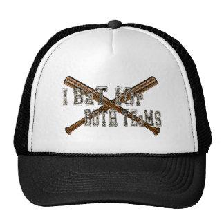 I bat for both teams bisexual humor trucker hat