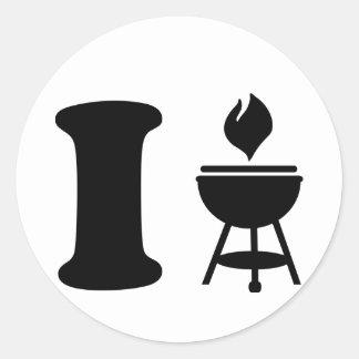 I BBQ - Grill Stickers