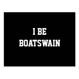 I Be Boatswain. Black White. Custom Postcard