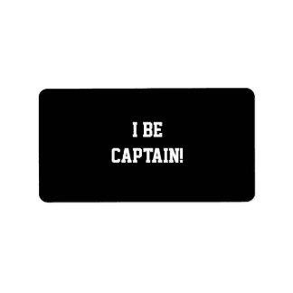 I Be Captain. Black and White. Label