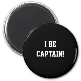 I Be Captain. Black and White. Magnet