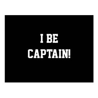 I Be Captain. Black and White. Postcard