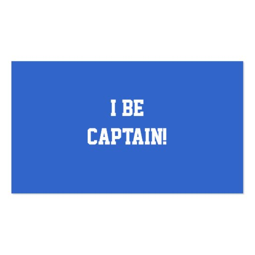 I Be Captain. Blue and White. Custom Business Cards