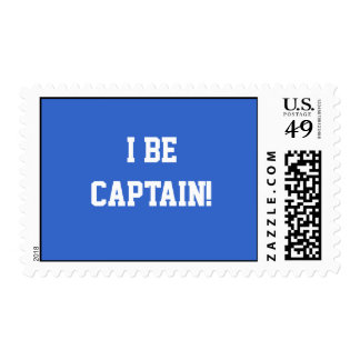 I Be Captain. Blue and White. Custom Stamps