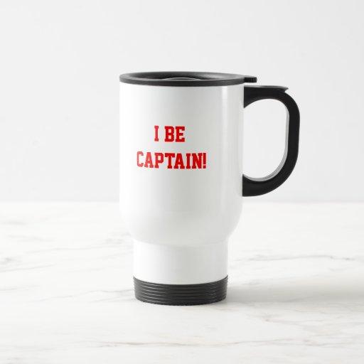 I Be Captain. Red. 15 Oz Stainless Steel Travel Mug