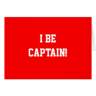 I Be Captain. Red. Card