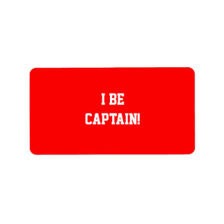 I Be Captain. Red. Label