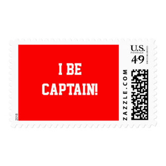I Be Captain. Red. Postage Stamp