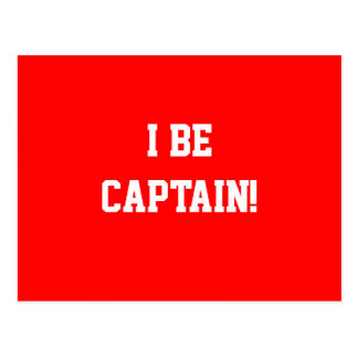 I Be Captain. Red. Postcard