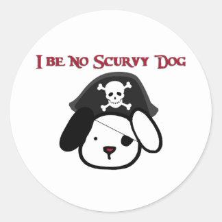 I Be No Scurvy Dog! Classic Round Sticker