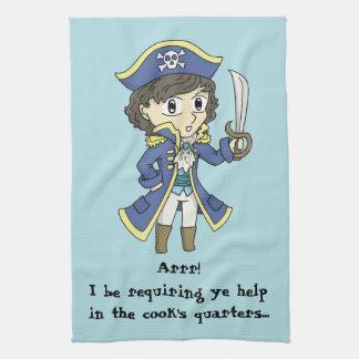 I be requiring ye help - Pirate kitchen towel