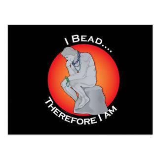 I Bead Postcard