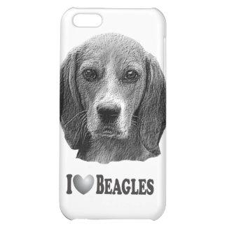 I beagles del corazón con el retrato del beagle