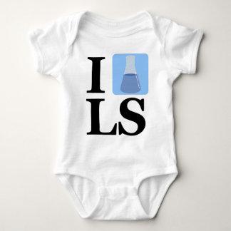 I Beaker LS Baby Bodysuit