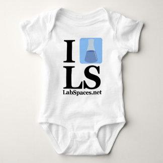 I beaker LS w/ Domain Baby Bodysuit