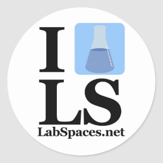 I beaker LS w/ Domain Classic Round Sticker