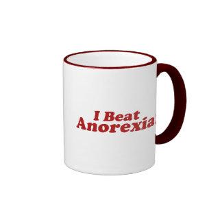 I Beat Anorexia! Ringer Coffee Mug