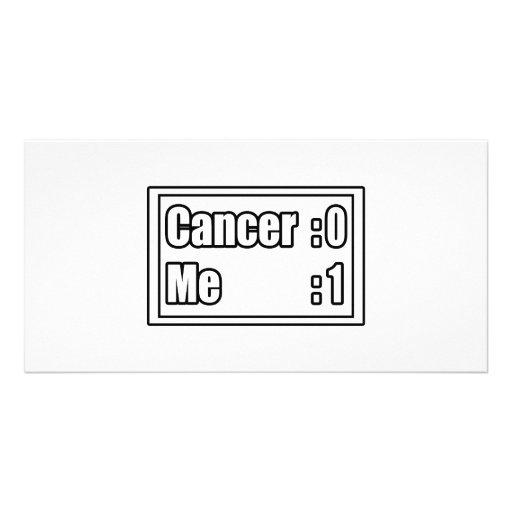 I Beat Cancer (Scoreboard) Photo Card Template
