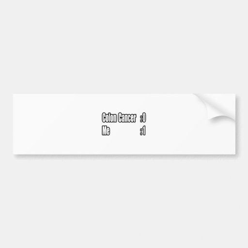 I Beat Colon Cancer (Scoreboard) Car Bumper Sticker