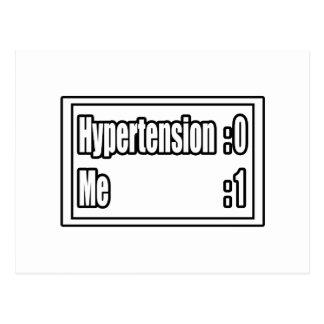 I Beat Hypertension (Scoreboard) Postcard