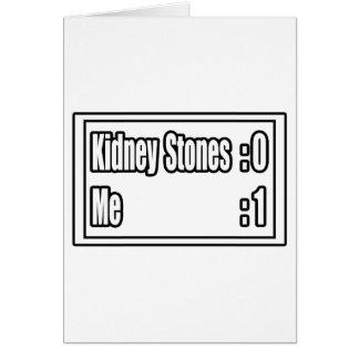 I Beat Kidney Stones (Scoreboard) Greeting Card