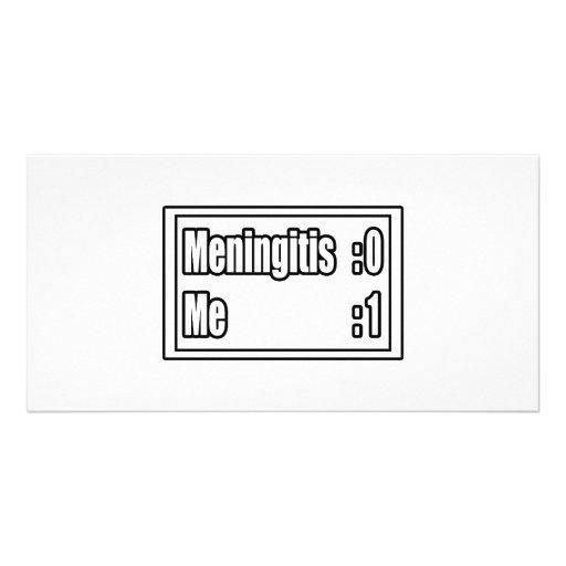 I Beat Meningitis (Scoreboard) Photo Card