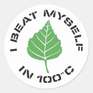 I Beat Myself Sticker