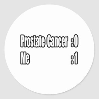I Beat Prostate Cancer (Scoreboard) Classic Round Sticker
