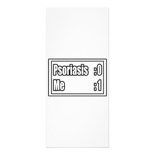 I Beat Psoriasis (Scoreboard) Custom Rack Cards