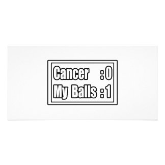 I Beat Testicular Cancer (Scoreboard) Photo Card