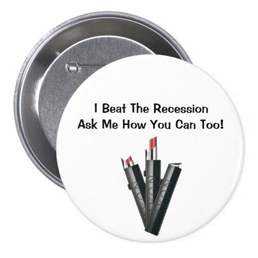 I Beat The Recession Avon Button