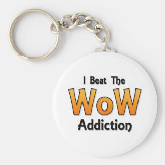 I Beat the WoW Addiction Basic Round Button Keychain