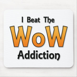 I Beat the WoW Addiction Mouse Pad