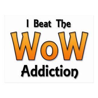 I Beat the WoW Addiction Postcard