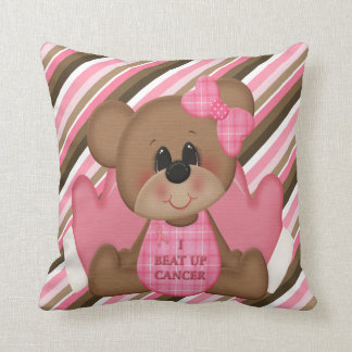 I Beat Up Cancer Teddy Bear Pillow