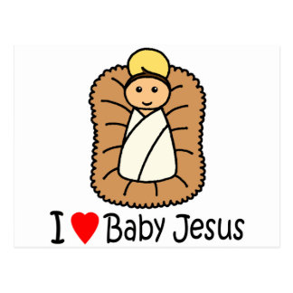 I bebé Jesús del corazón (amor) Postal