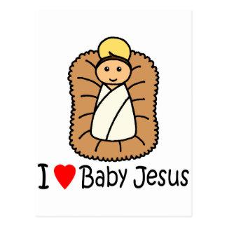 I bebé Jesús del corazón (amor) Tarjetas Postales
