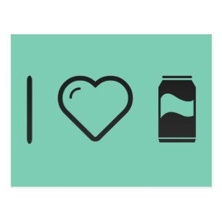 I bebidas carbonatadas corazón postales