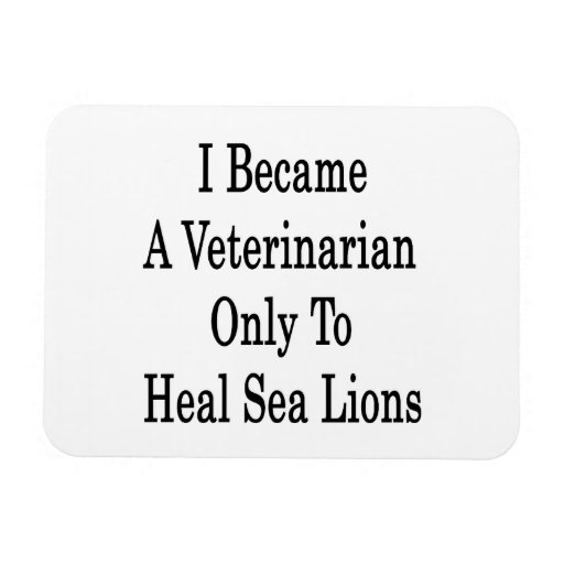 I Became A Veterinarian Only To Heal Sea Lions Rectangular Photo Magnet