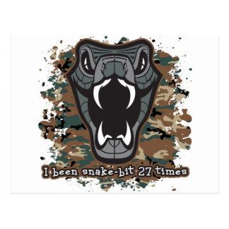I Been Snake Bit 27 Times Postcard