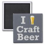 I [beer] Craft Beer 2 Inch Square Magnet