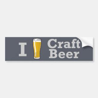 I [beer] Craft Beer Bumper Sticker Car Bumper Sticker