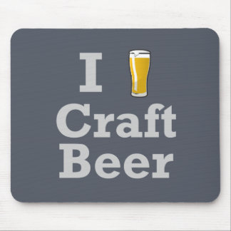 I [beer] Craft Beer Mouse Pad