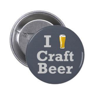 I [beer] Craft Beer Pinback Button