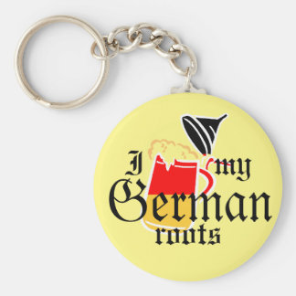 I beer stein my German roots Keychain