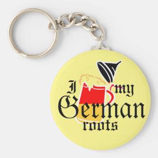I beer stein my German roots Keychain