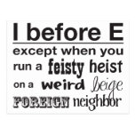 I before E Postcard