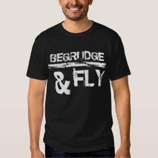 I Begrudge - T-Shirt, distressed text on Black bac Shirt